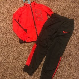 Boys Red and Black Nike Set